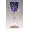 niebieska lampka z pawiem pochodząca z Art Déco