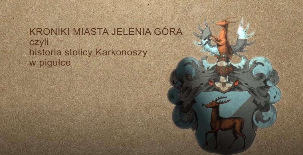 Na grafice stopklatka z filmu - Kroniki Miasta Jelenia Góra
