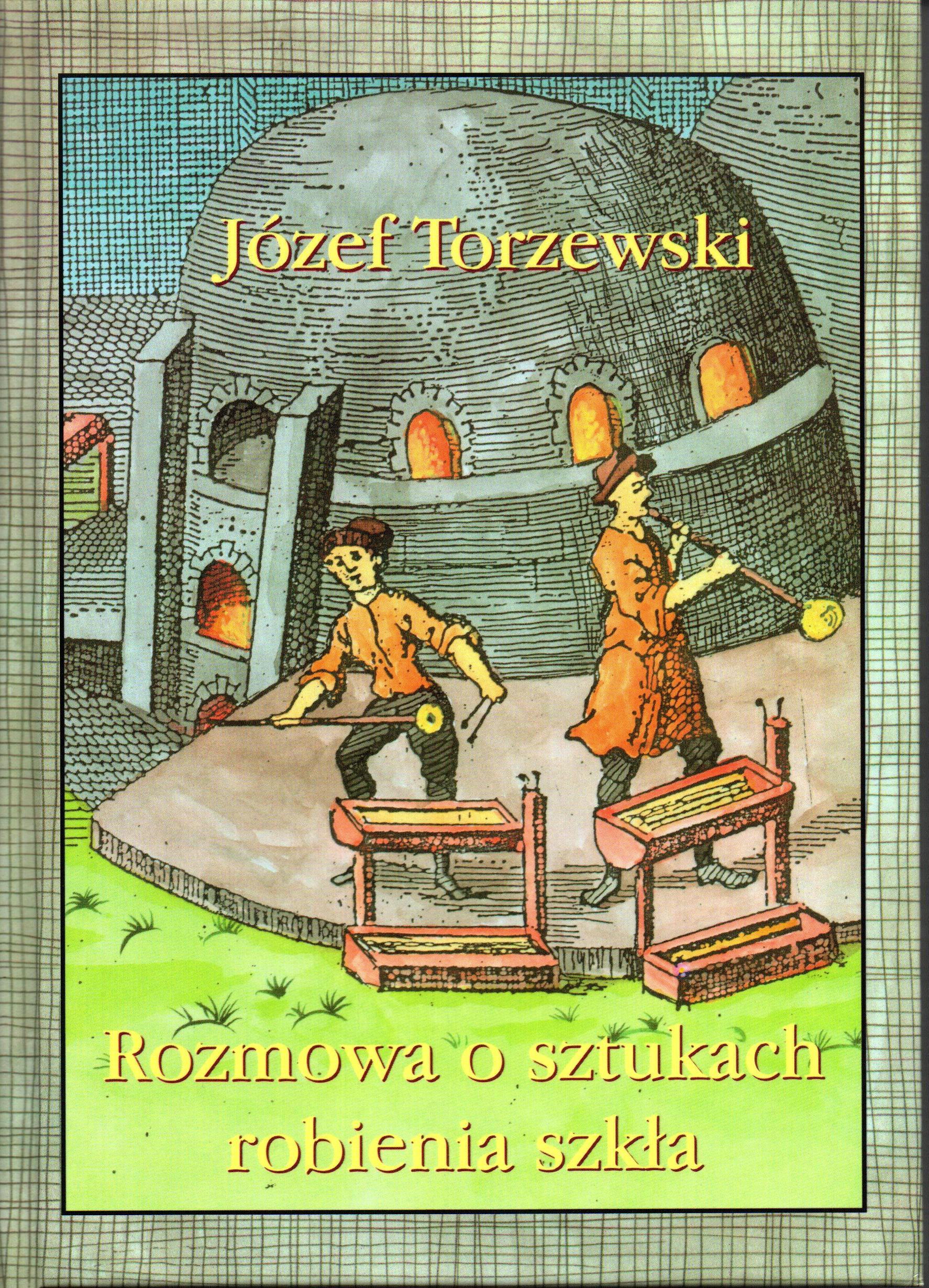 Na grafice przedstawiono rysunkowy obraz dwóch hutników podczas pracy i tytuł książki wraz z autorem